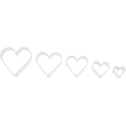 Set cuttere inimă 5 buc.