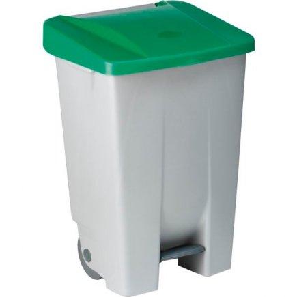 Coș de gunoi cu pedală Gastro 80 l, cenușiu/verde