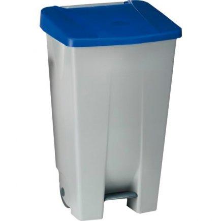Coș de gunoi cu pedală Gastro 120 l, cenușiu/albastru