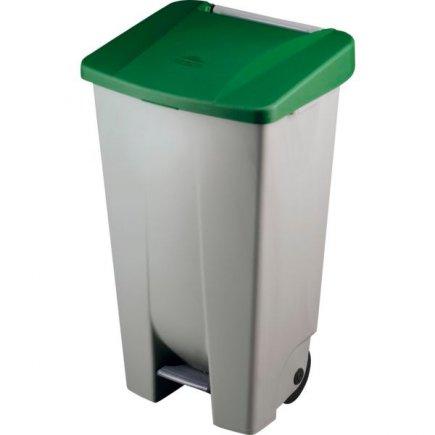 Coș de gunoi cu pedală Gastro 120 l, cenușiu/verde