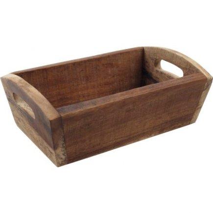 Cutii pentru produse de patiserie, de lemn Gastro 28,7x18x10 cm, natur
