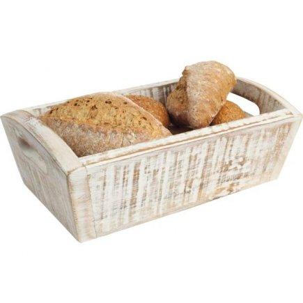 Cutii pentru produse de patiserie, de lemn Gastro 28,7x18x10 cm, albe