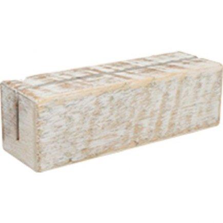 Suport pentru meniu, din lemn Gastro 12x4x4x cm, alb