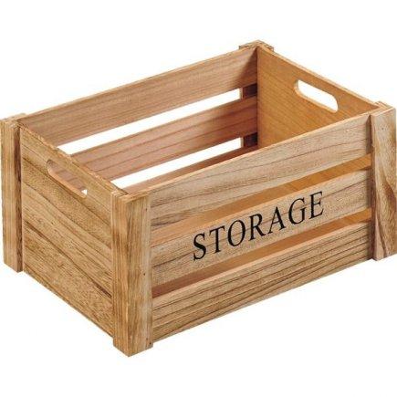 Cutii de lemn Kesper Storage 30,5x20,5x16 cm, natur