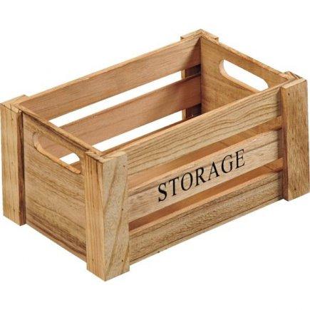 Cutii de lemn Kesper Storage 25,8x17x13,5 cm, natur