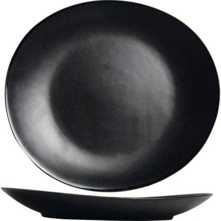 Farfurie plată Cosy&Trendy Vongola Black 28x25,5 cm