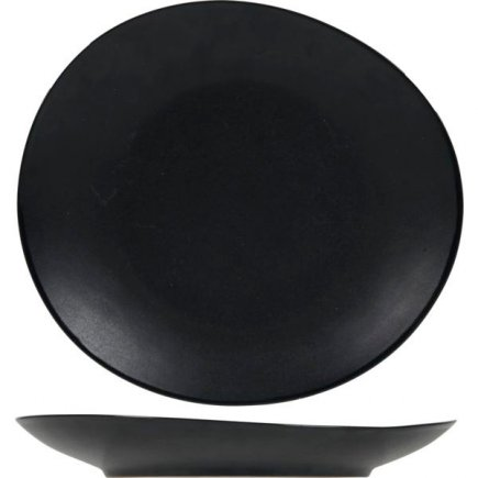 Farfurie plată Cosy&Trendy Vongola Black 22,2x20,3 cm