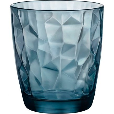 Pahar pentru apă Bormioli Rocco Diamond 305 ml, albastru