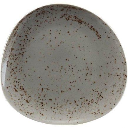 Farfurie plată asimetrică Schönwald Pottery 22 cm, cenușiu deschis