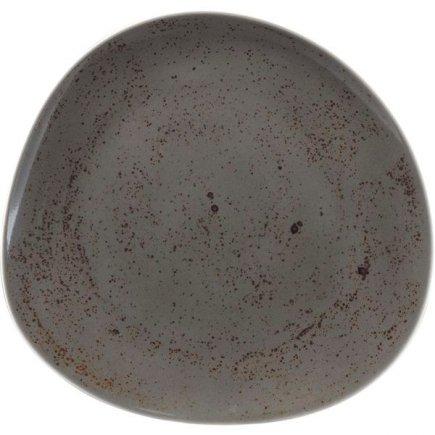 Farfurie plată asimetrică Schönwald Pottery 22 cm, culoare cenușie