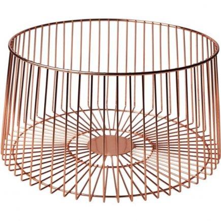 Coșuleț metalic decorativ Cosy&Trendy 30 cm, arămiu