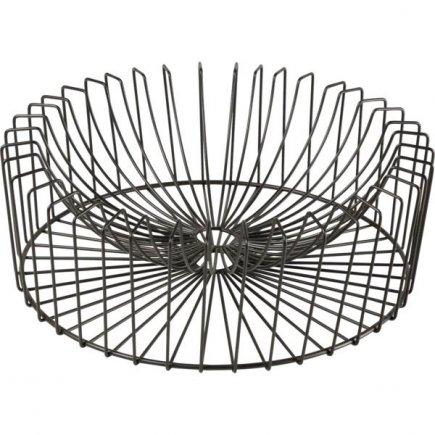 Coșuleț metalic decorativ Cosy&Trendy 33 cm, negru