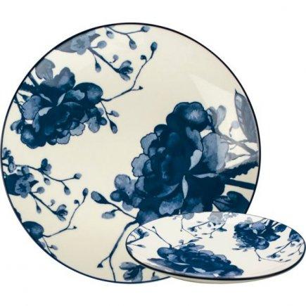 Farfurie întinsă Gusta Out Of The Blue 20 cm, decor bujor