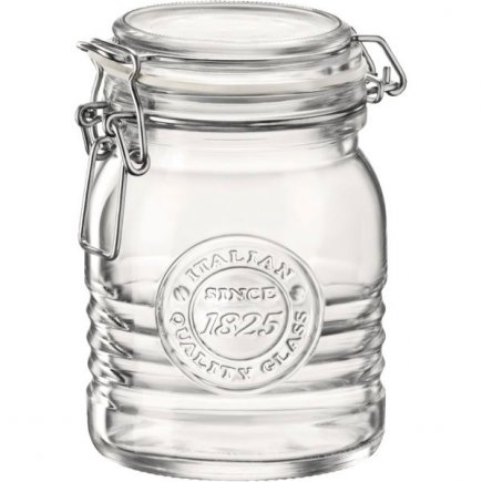 Borcan conserve Bormili Rocco Officina 500 ml, închidere cu arc brevetată