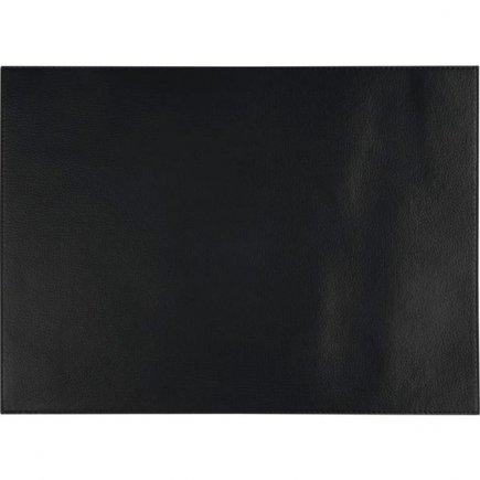 Suport farfurii, piele APS 45x33 cm, negru