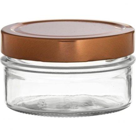 Recipient pentru alimente 190 ml, set 6 buc., capac cupru
