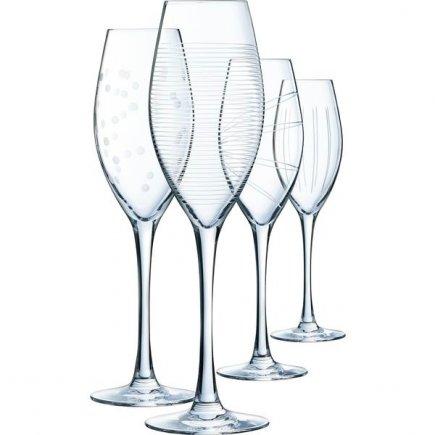 Pahare pentru vin spumant Arcoroc Illumination 240 ml, set 4 buc.